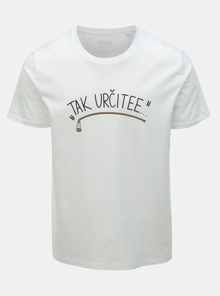 Biele pánske hokejové tričko ZOOT Original Tak určitee