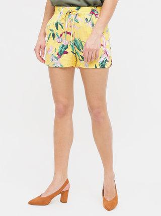 Pantaloni scurti galbeni florali VERO MODA Simply Easy