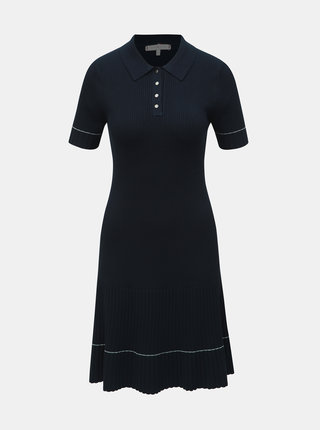Tmavomodré svetrové šaty Tommy Hilfiger Lanae