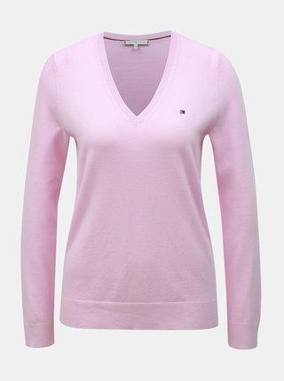 Světle růžový dámský basic svetr Tommy Hilfiger