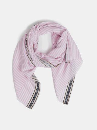 Ružová pruhovaná šatka Tommy Hilfiger