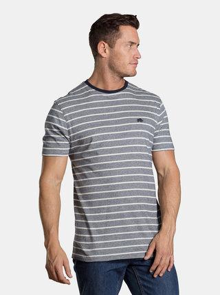Tmavomodré pruhované tričko Raging Bull