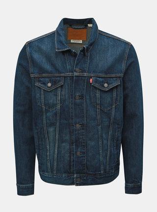 Jacheta barbateasca albastru inchis din denim Levi's® Trucker