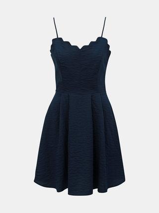 Tmavomodré šaty VILA Linea