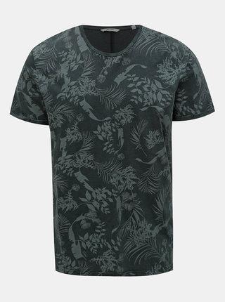Tmavosivé vzorované tričko ONLY & SONS Pecos