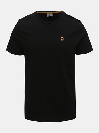 Tricou negru slim fit Jack & Jones Boston
