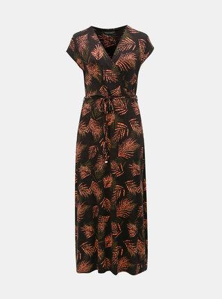 Čierne vzorované maxišaty Dorothy Perkins Curve