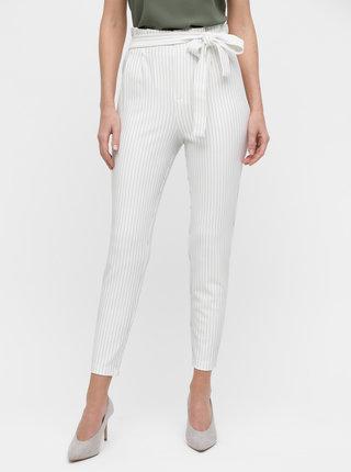 Krémové pruhované kalhoty ONLY Florence