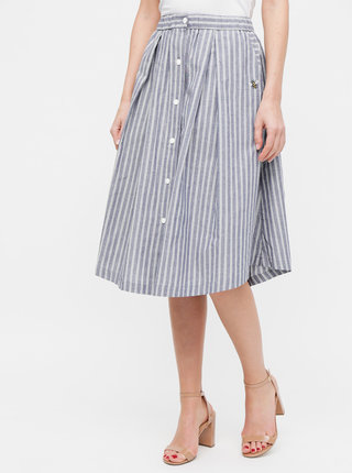 Modrá pruhovaná sukňa Maloja Quadrella