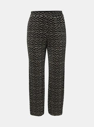 Pantaloni plisati negri cu buline Dorothy Perkins Curve