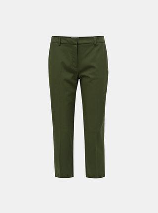 Tmavě zelené zkrácené kalhoty Dorothy Perkins Petite