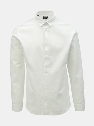 Camasa alba regular fit cu amestec de in Selected Homme Reglinen