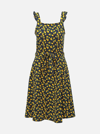 Tmavě modré vzorované šaty Dorothy Perkins Tall