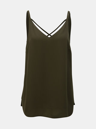 Khaki top Dorothy Perkins Tall