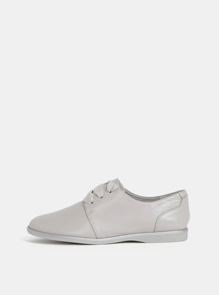 Pantofi gri din piele Tamaris