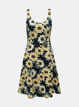 Tmavomodré kvetované šaty Dorothy Perkins