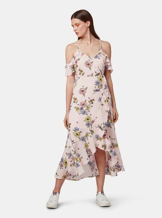 Rochie midi roz deschis florala Tom Tailor Denim