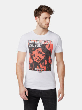 Biele pánske tričko Tom Tailor Denim