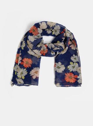 Tmavě modrý květovaný šátek ONLY Shining
