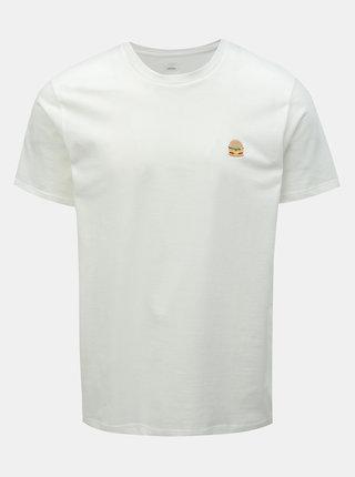 Biele tričko s výšivkou Burton Menswear London