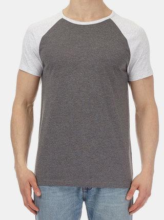 Sivé melírované basic tričko Burton Menswear London