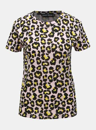 Tricou roz cu motiv leopard TALLY WEiJL