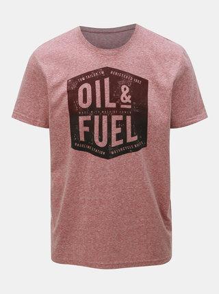 Ružové pánske melírované tričko Tom Tailor