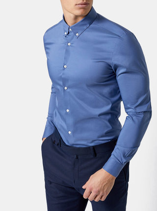 Camasa albastra skinny fit Burton Menswear London