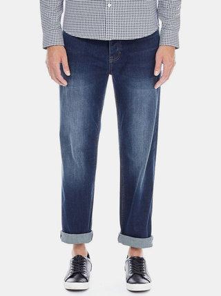 Blugi albastru inchis straight fit Burton Menswear London