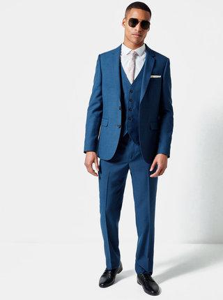 7b1e9be9c Modré oblekové slim fit sako Burton Menswear London