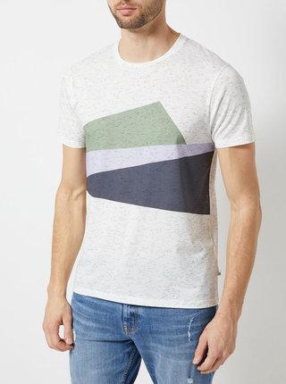 Krémové melírované tričko Burton Menswear London