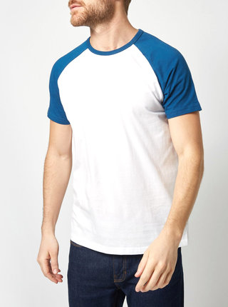 Modro-bílé basic tričko Burton Menswear London