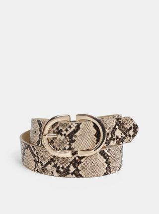 Béžový opasok s hadím vzorom Pieces Ami