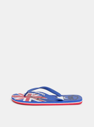 Papuci flip-flop albastri Jack & Jones Flag