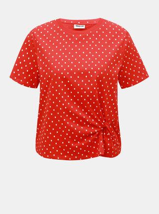 Tricou rosu cu buline Noisy May Bine