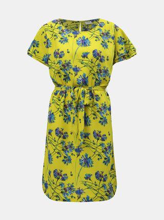Žluté květované šaty Jacqueline de Yong Trick