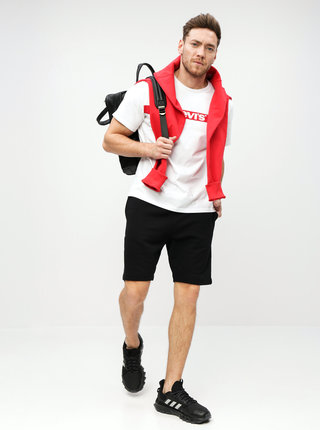 Pantaloni scurti sport negri Selected Homme Simon