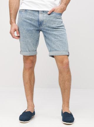 Světle modré pánské slim fit džínové kraťasy Calvin Klein Jeans