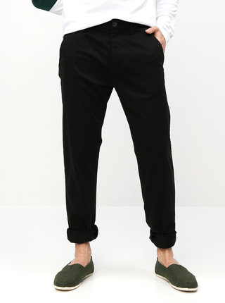 Pantaloni negri straight chino Burton Menswear London