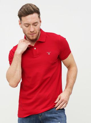 Červené pánské basic polo tričko GANT