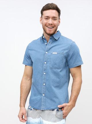 Modrá pánská džínová regular fit košile Calvin Klein Jeans