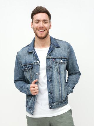 Jacheta barbateasca albastra din denim Levi's® Trucker