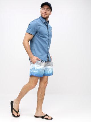 Bermude albastre cu model Björn Borg South