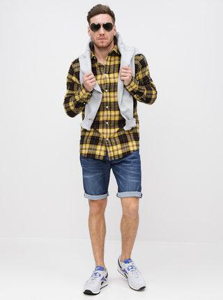 Camasa negru-galben in carouri slim fit Selected Homme Hansi