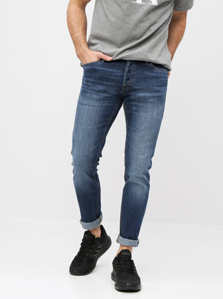 Blugi albastri slim fit Jack & Jones Glenn
