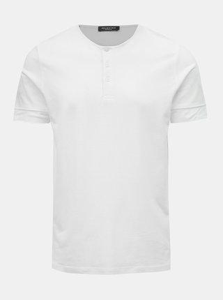 Bílé basic tričko Selected Homme Amos