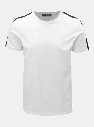 Tricou alb Selected Homme Rib