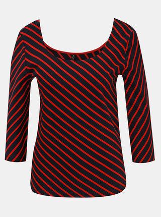 Červeno-modré pruhované tričko ONLY Maya