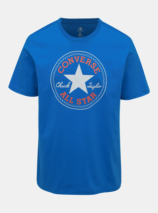Modré pánské tričko s potiskem Converse