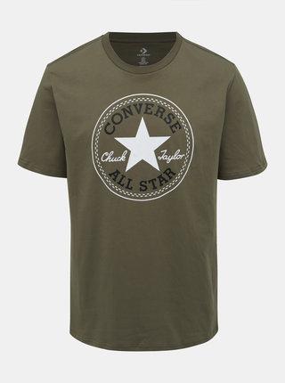 Kaki pánske tričko s potlačou Converse